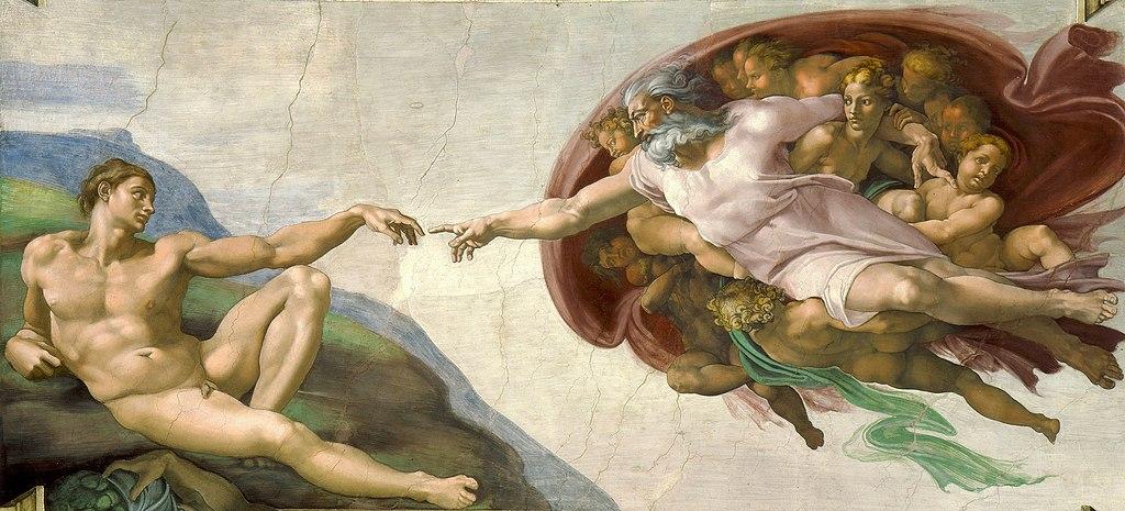 Dios crea a Adán a su imagen y semejanza